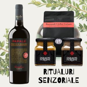 Ritualuri Senzoriale - pachet cadou paste jassyro - cafea, vin si mustar