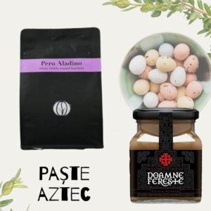 Paște Hindus - pachet cadou paste jassyro - cafea si mustar doamne fereste aztec