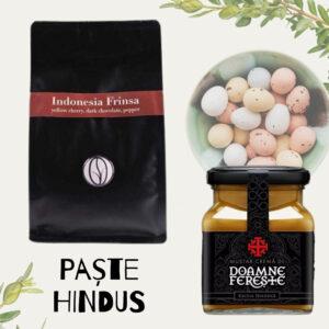 Paște Hindus - pachet cadou paste jassyro - cafea si mustar doamne fereste hindus